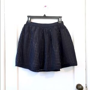 Navy and beige skirt